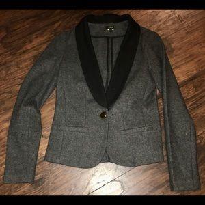 J crew wool fitted tuxedo blazer 4